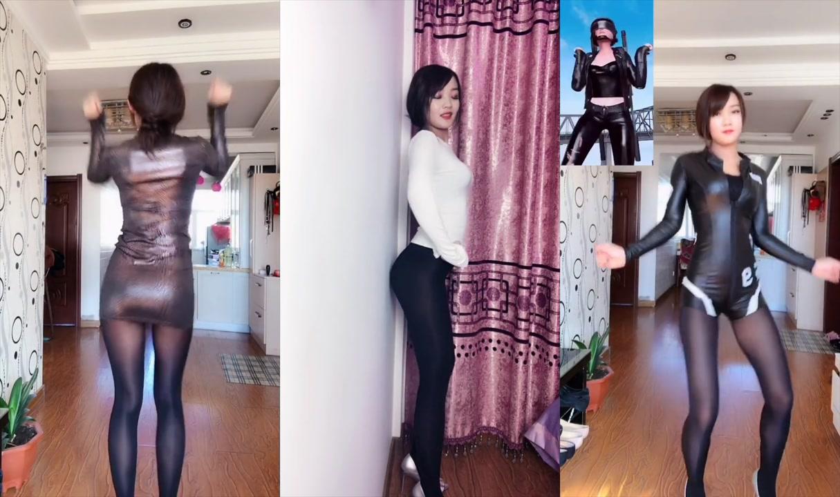 絲襪「美腿」性感正妹「緊身小短裙」慢搖秀「超性感」黑絲雙腿