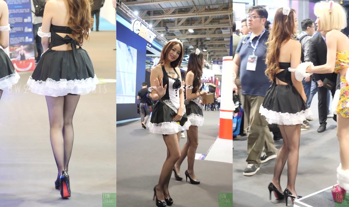 Kayler 凱樂 - 黑絲長腿女僕 - 富利遊戲 SG @ 亞洲國際博彩娛樂展 G2E Asia 2017