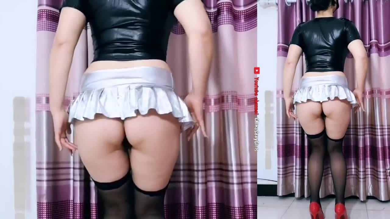 波波姐黑丝袜性感广场舞 Chinese Milf big ass sexy dance