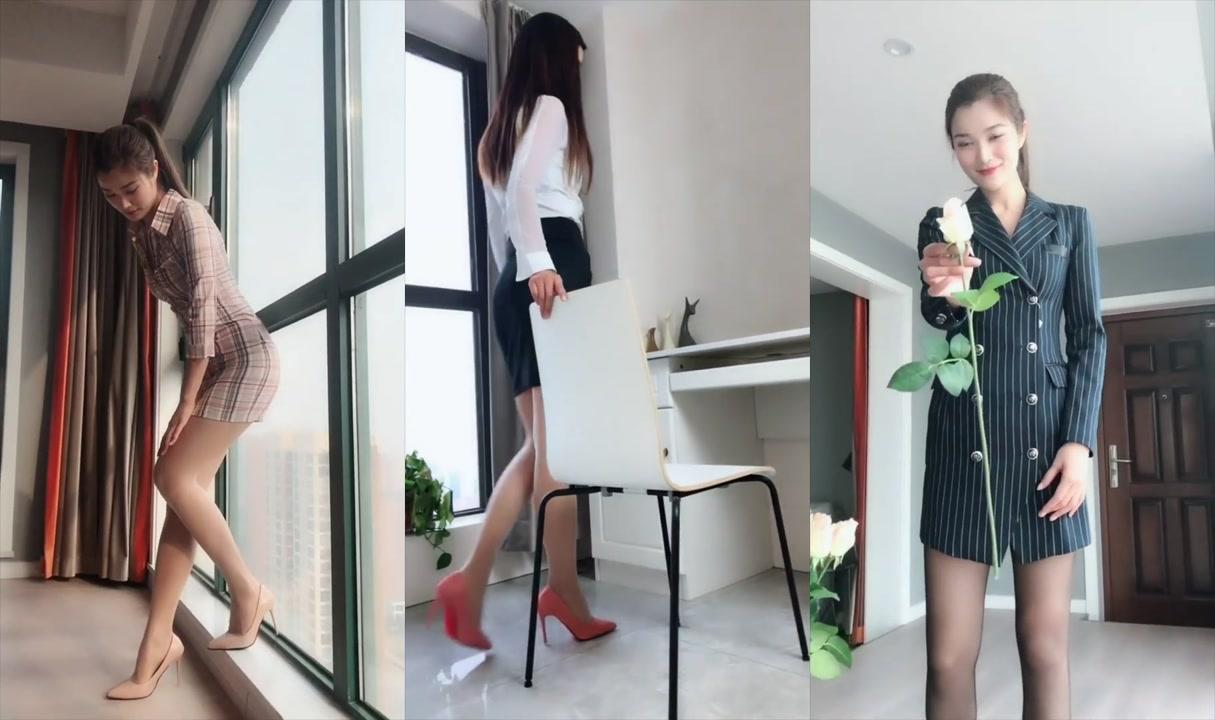 美腿「模特」學妹「絲襪」大長腿「誘惑十足」